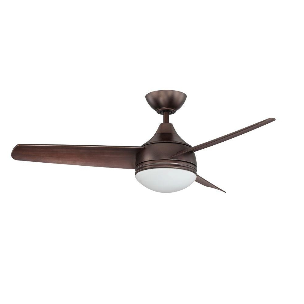 Designers Choice Collection Moderno 42 In. Oil Brushed Bronze With Regard To Well Known Modern Outdoor Ceiling Fans With Lights (Gallery 7 of 20)
