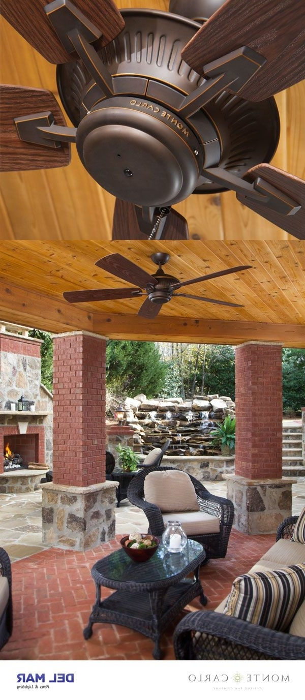 """Efficient Outdoor Ceiling Fans For Newest Monte Carlo 5Cy60Rb, Cyclone Roman Bronze Energy Star 60"""" Outdoor (View 6 of 20)"""