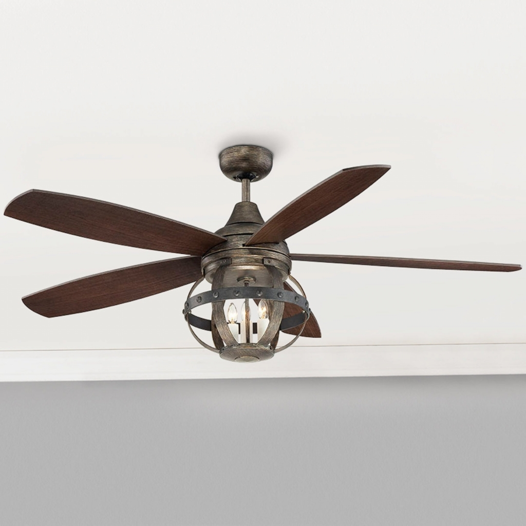 Electronics: Indoor Outdoor Ceiling Fans With Lights Fresh 52 Indoor Inside Well Liked Unique Outdoor Ceiling Fans With Lights (View 5 of 20)