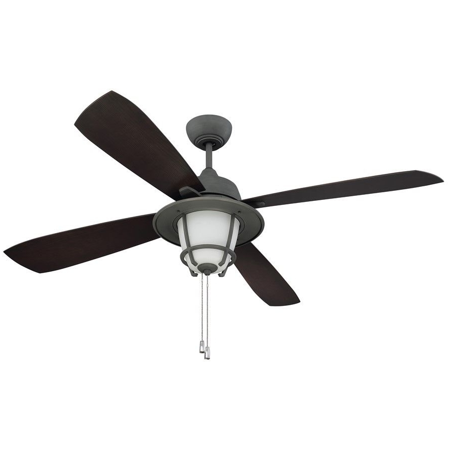 "Ellington Mr56Agv4C1 Morrow Bay 56"" Outdoor Ceiling Fan In Aged Regarding Newest Ellington Outdoor Ceiling Fans (Gallery 1 of 20)"