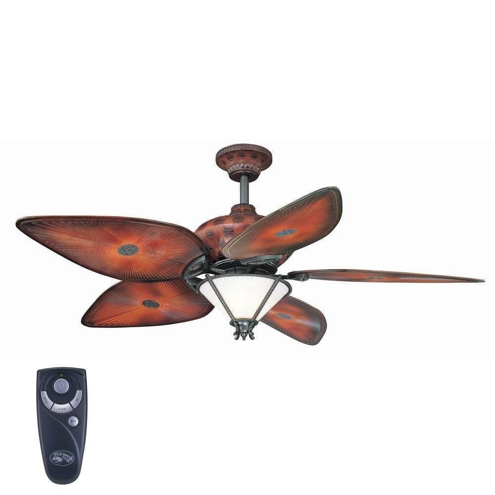 Expensive Outdoor Ceiling Fans Throughout Well Known Hampton Bay San Lucas 56 In (View 19 of 20)