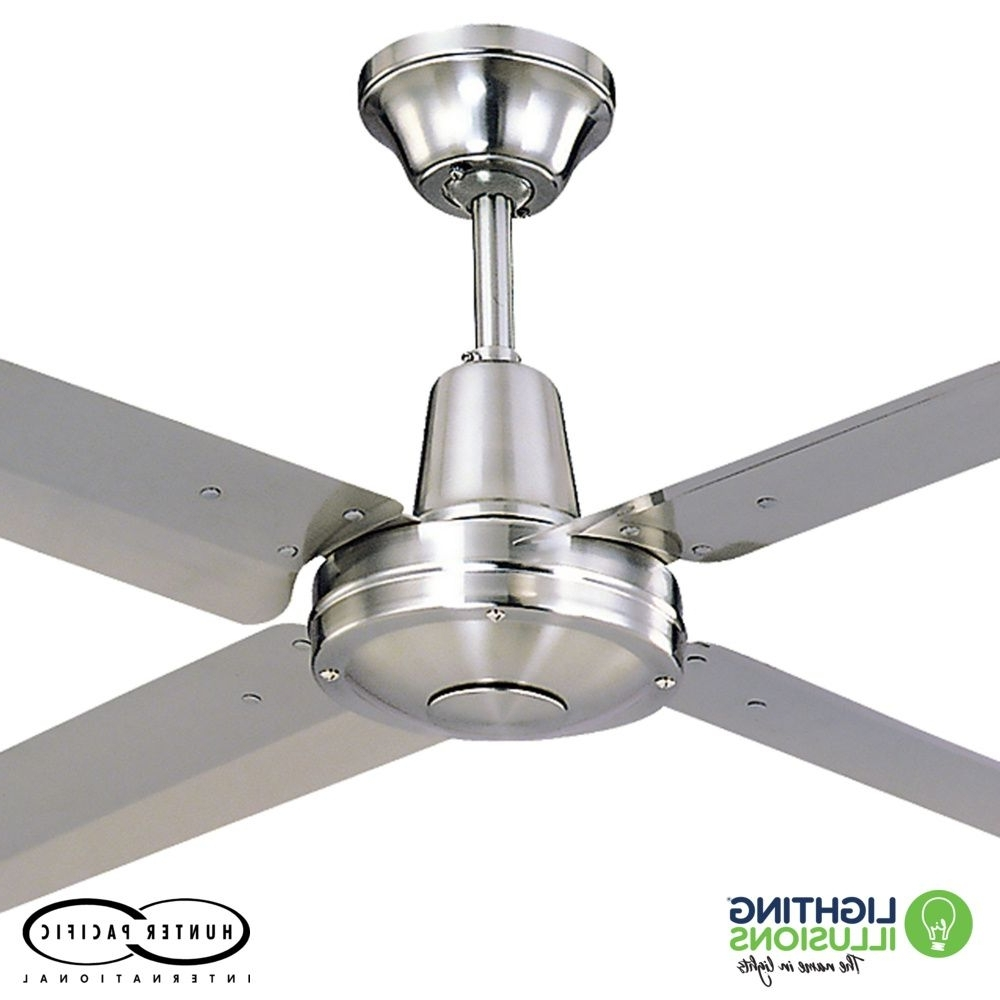 """Famous 48"""" – 1220Mm Typhoon Mach 2 316 Marine Grade Stainless Steel Ceiling With Sunshine Coast Outdoor Ceiling Fans (View 9 of 20)"""