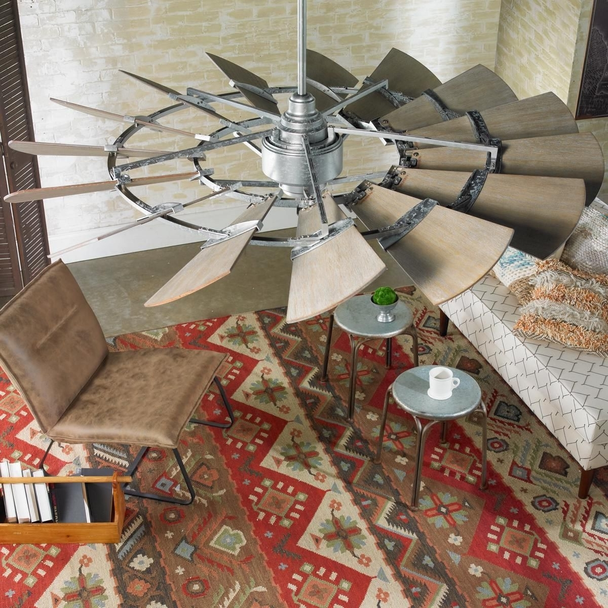 "Famous 60"" Outdoor Rustic Windmill Ceiling Fan (View 2 of 20)"
