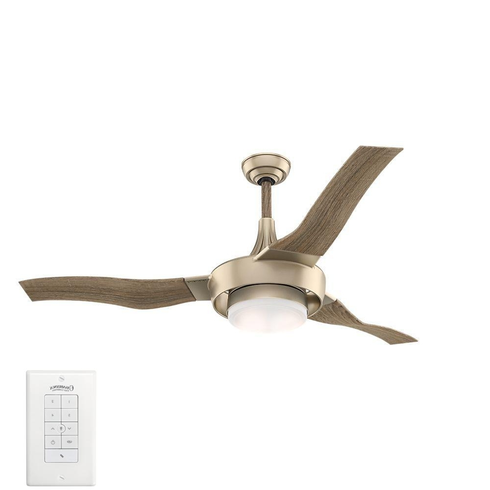 Famous Casablanca Perseus 64 In. Led Indoor/outdoor Metallic Sunsand Within Efficient Outdoor Ceiling Fans (Gallery 9 of 20)