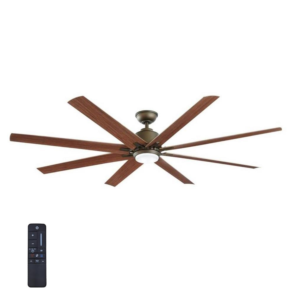 Famous Home Decorators Collection Kensgrove 72 In. Led Indoor/outdoor With Regard To Indoor Outdoor Ceiling Fans With Lights And Remote (Gallery 2 of 20)