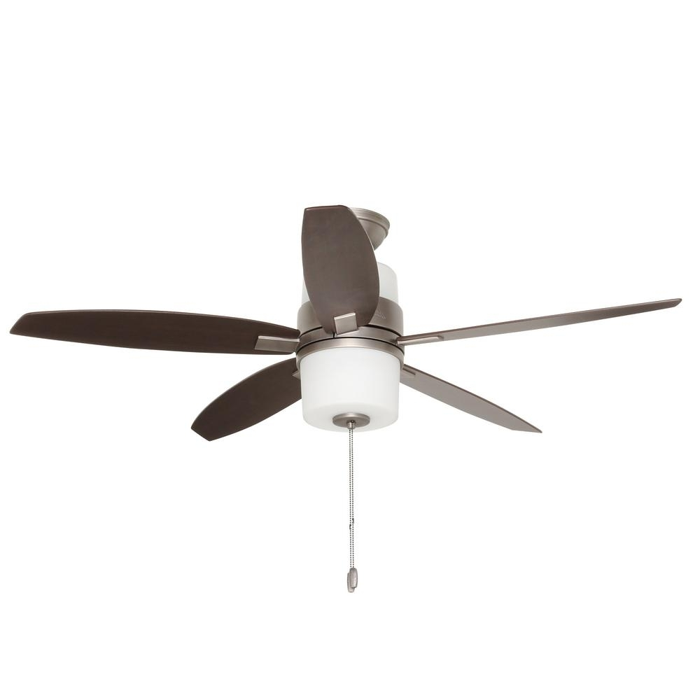 Famous Hunter Domino 52 In. Indoor Antique Pewter Ceiling Fan With Light Throughout Outdoor Ceiling Fans Under $200 (Gallery 17 of 20)