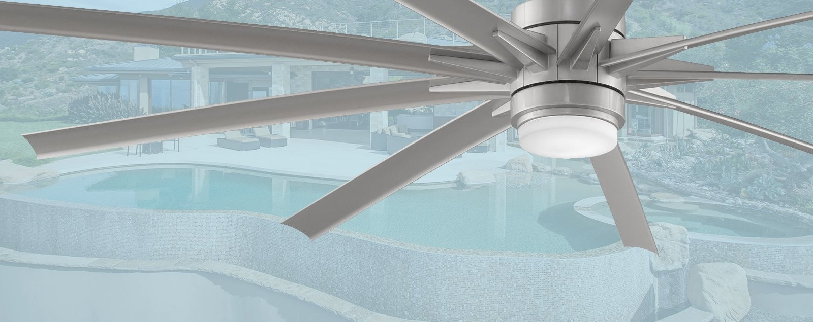 "Famous Large Outdoor Ceiling Fans With Lights Throughout Large Outdoor Ceiling Fans – Outdoor Fans Over 60"" In Diameter (View 5 of 20)"