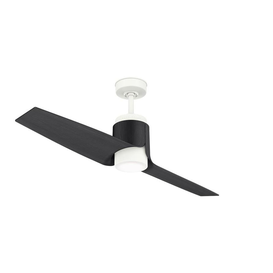 Famous Outdoor Ceiling Fans With Dc Motors Intended For Shop Casablanca Aya Wifi Enabled Dc Motor 54 In Porcelain White Led (View 6 of 20)