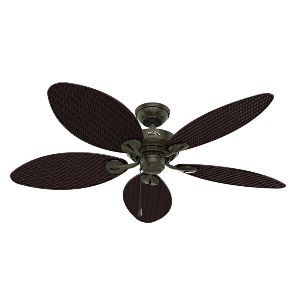 Famous Outdoor Ceiling Fans With Leaf Blades For Ceiling Fan: Unique Leaf Ceiling Fan Design Lowes Leaf Ceiling Fan (View 16 of 20)