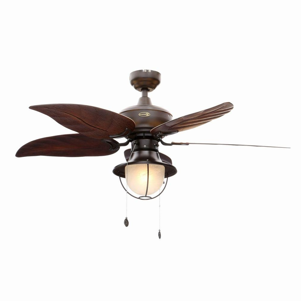Famous Outdoor Ceiling Fans With Schoolhouse Light With Regard To Westinghouse Oasis 48 In. Indoor/outdoor Oil Rubbed Bronze Ceiling (Gallery 4 of 20)