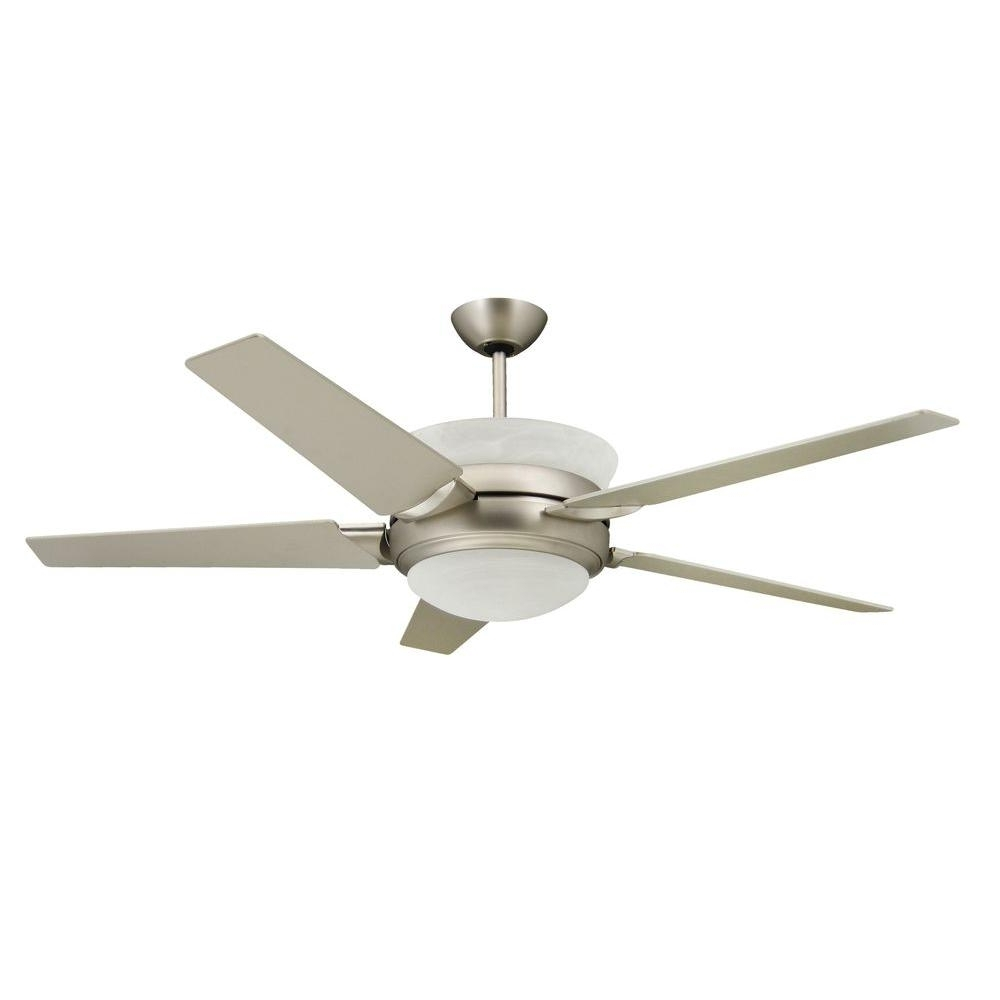 Famous Outdoor Ceiling Fans With Uplights Throughout Troposair Sunrise 56 In. Satin Steel Up Light Ceiling Fan 88600 (Gallery 7 of 20)