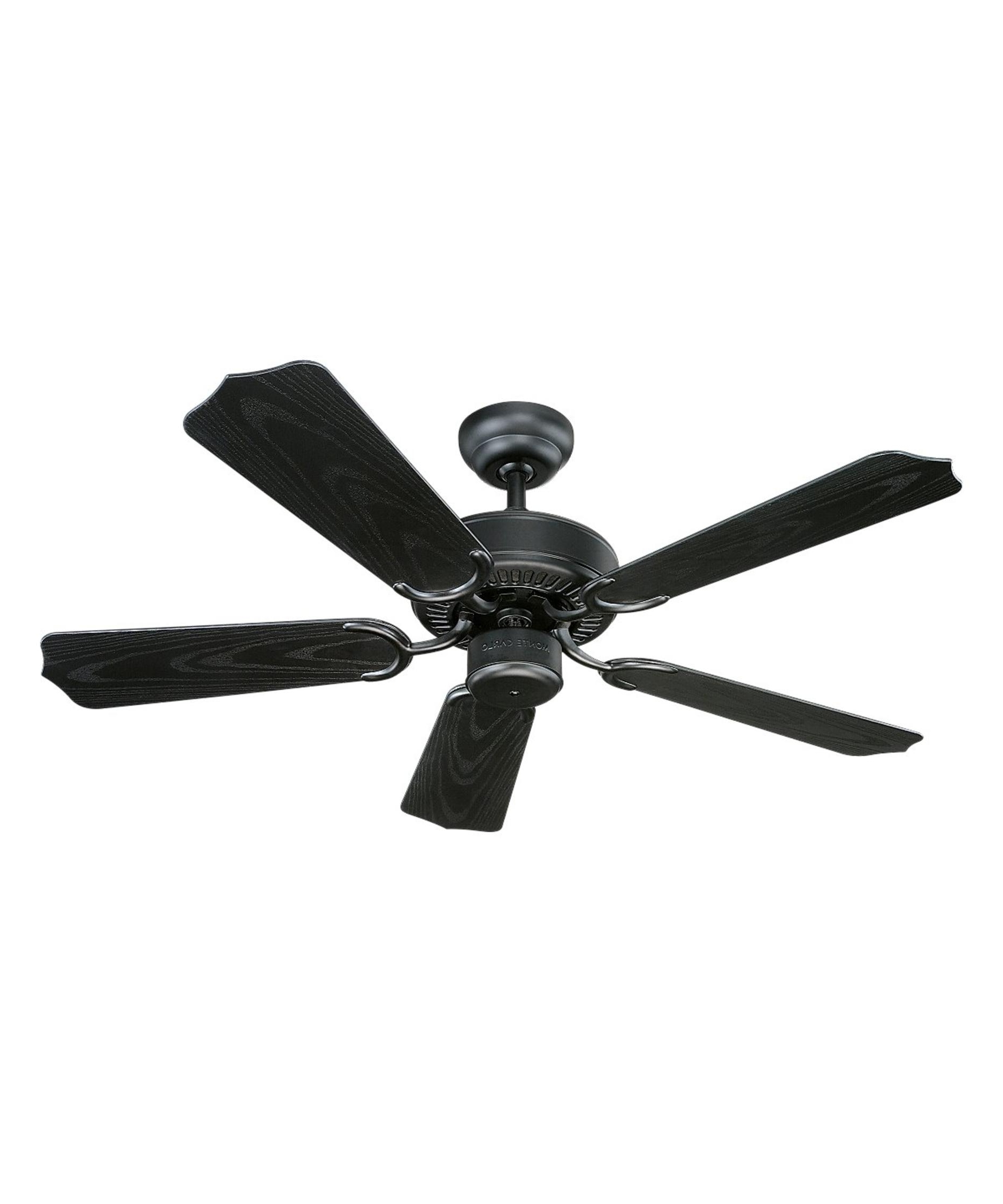 Fashionable 42 Inch Outdoor Ceiling Fans With Lights With Regard To Monte Carlo 5Wf42 Weatherford Ii 42 Inch 5 Blade Ceiling Fan (View 10 of 20)