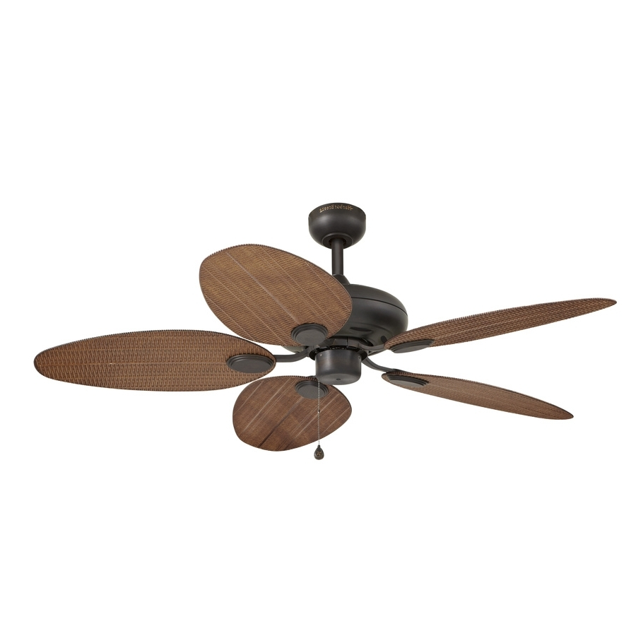 Fashionable 52 Inch Outdoor Ceiling Fans With Lights With Regard To Shop Harbor Breeze Tilghman 52 In Bronze Indoor/outdoor Ceiling Fan (View 7 of 20)