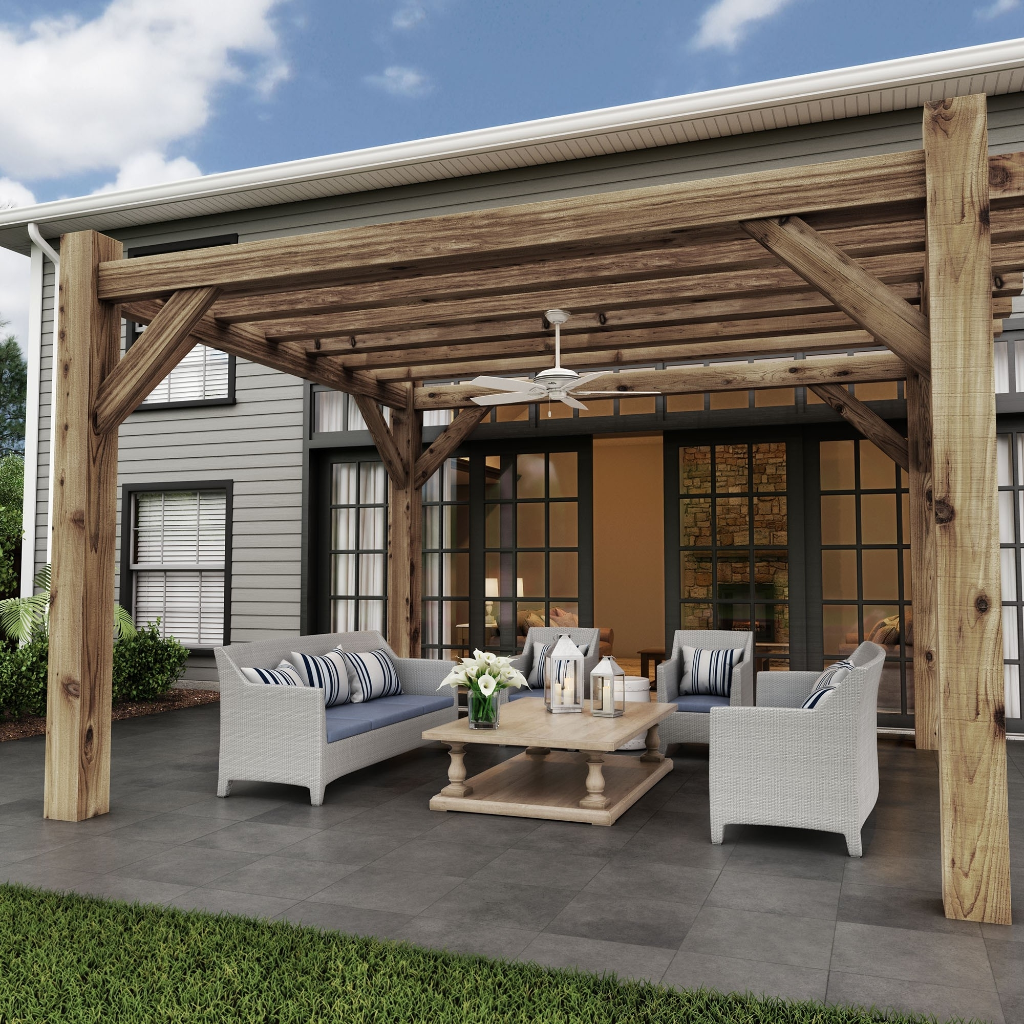 Fashionable Outdoor Ceiling Fans For Pergola Intended For Enhancing Outdoor Spaces: Four Reasons To Add A Fan To Your Pergola (Gallery 19 of 20)