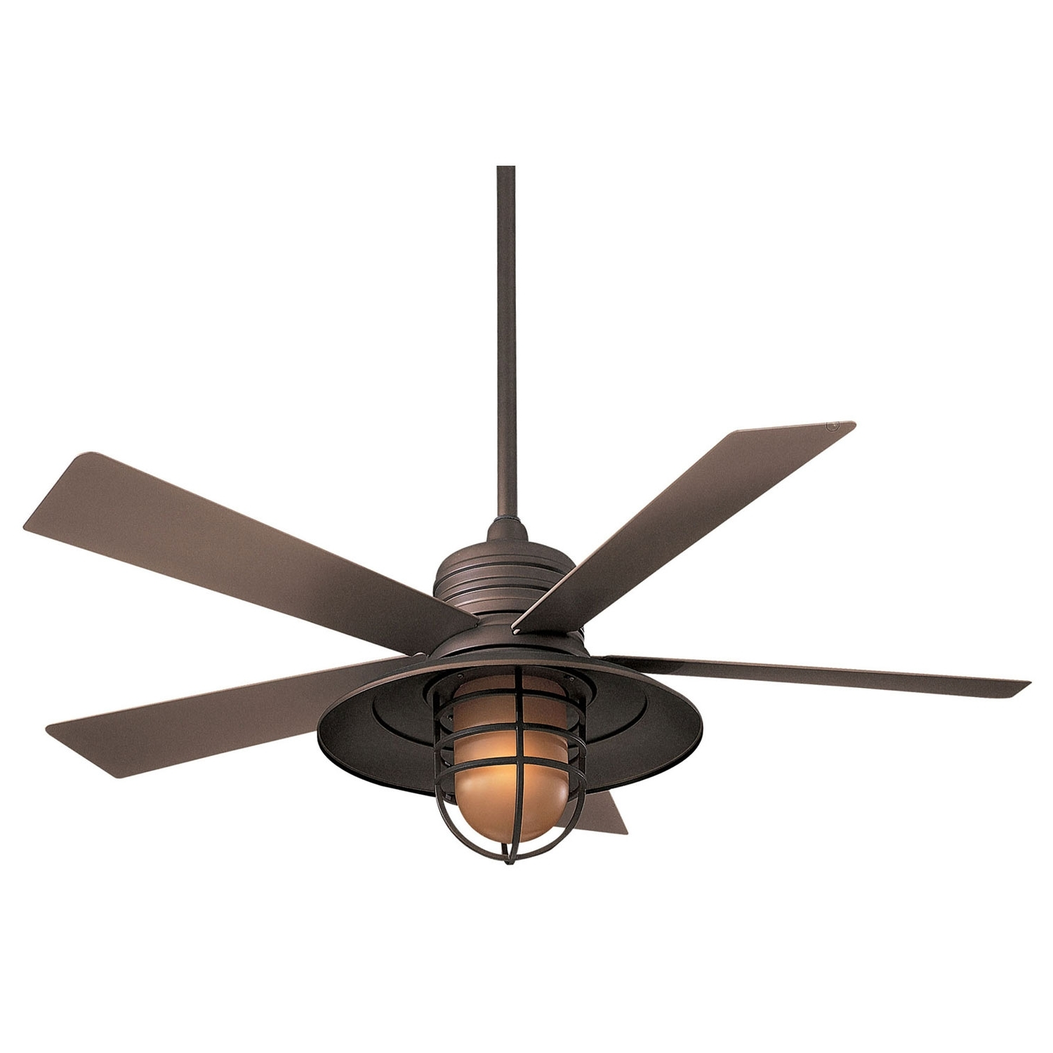 Fashionable Outdoor Ceiling Fans For Wet Locations Throughout Minka Aire Rainman Oil Rubbed Bronze 54 Inch Blade Indoor/outdoor (Gallery 16 of 20)