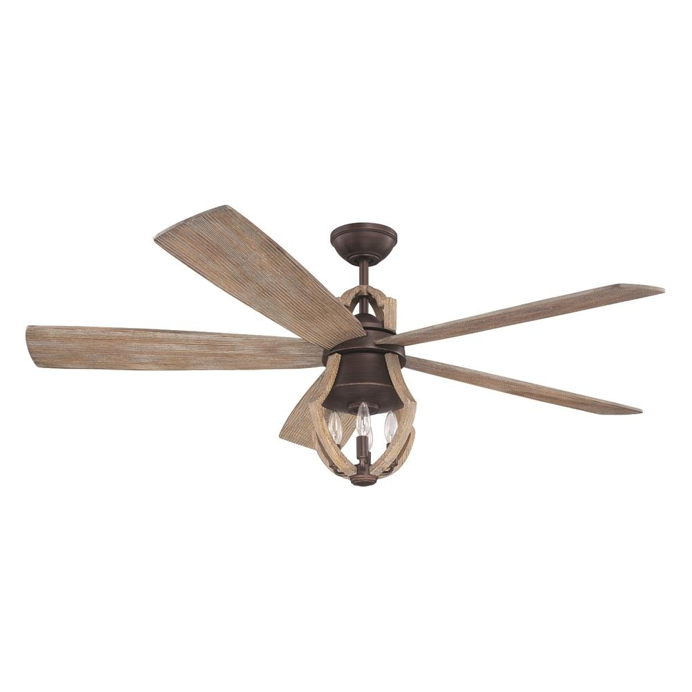 "Fashionable Outdoor Ceiling Fans Under $75 Throughout Win56abzwp5 – Craftmade Win56abzwp5 56"" Ceiling Fan W/blades & Light (View 16 of 20)"