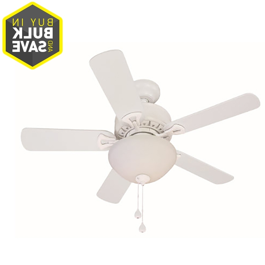 Fashionable Shop Harbor Breeze Classic 36 In White Indoor Ceiling Fan With Light Pertaining To 36 Inch Outdoor Ceiling Fans With Light Flush Mount (Gallery 6 of 20)