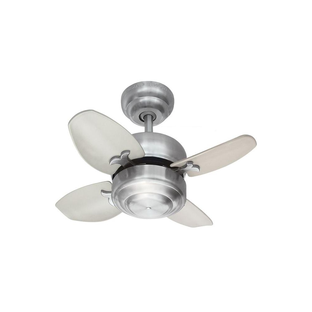 Favorite 20 Inch Outdoor Ceiling Fans With Light For Monte Carlo Mini 20 – 20 In. Brushed Steel Ceiling Fan 4Mc20Bs – The (Gallery 1 of 20)