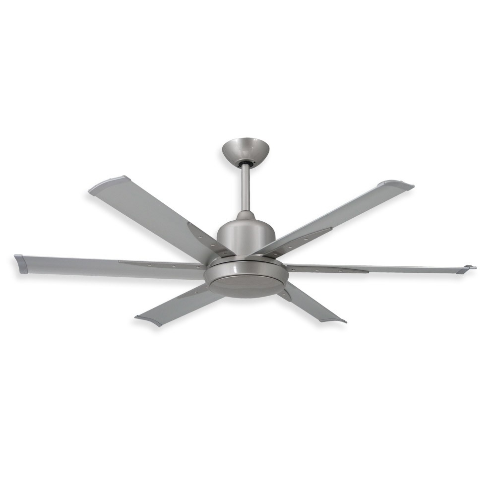 Favorite 52 Inch Dc 6 Ceiling Fantroposair – Commercial Or Residential Intended For Nickel Outdoor Ceiling Fans (Gallery 6 of 20)