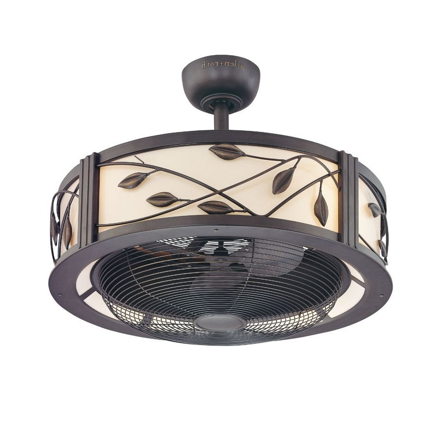 Favorite Ceiling Fan: Unique Caged Ceiling Fan Design Flush Mount Caged With Regard To Enclosed Outdoor Ceiling Fans (View 9 of 20)
