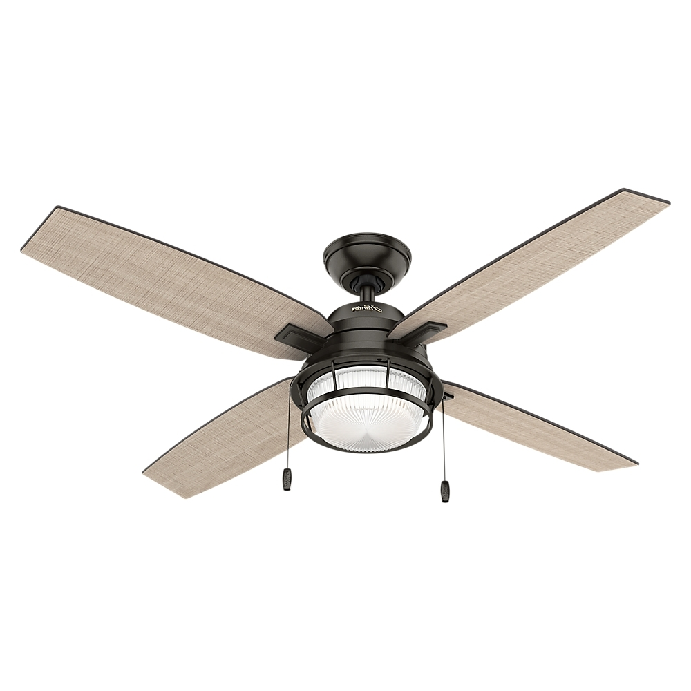 "Favorite Hunter Indoor Outdoor Ceiling Fans With Lights Intended For Hunter 52"" Ocala Noble Bronze Ceiling Fan With Light – Walmart (View 14 of 20)"