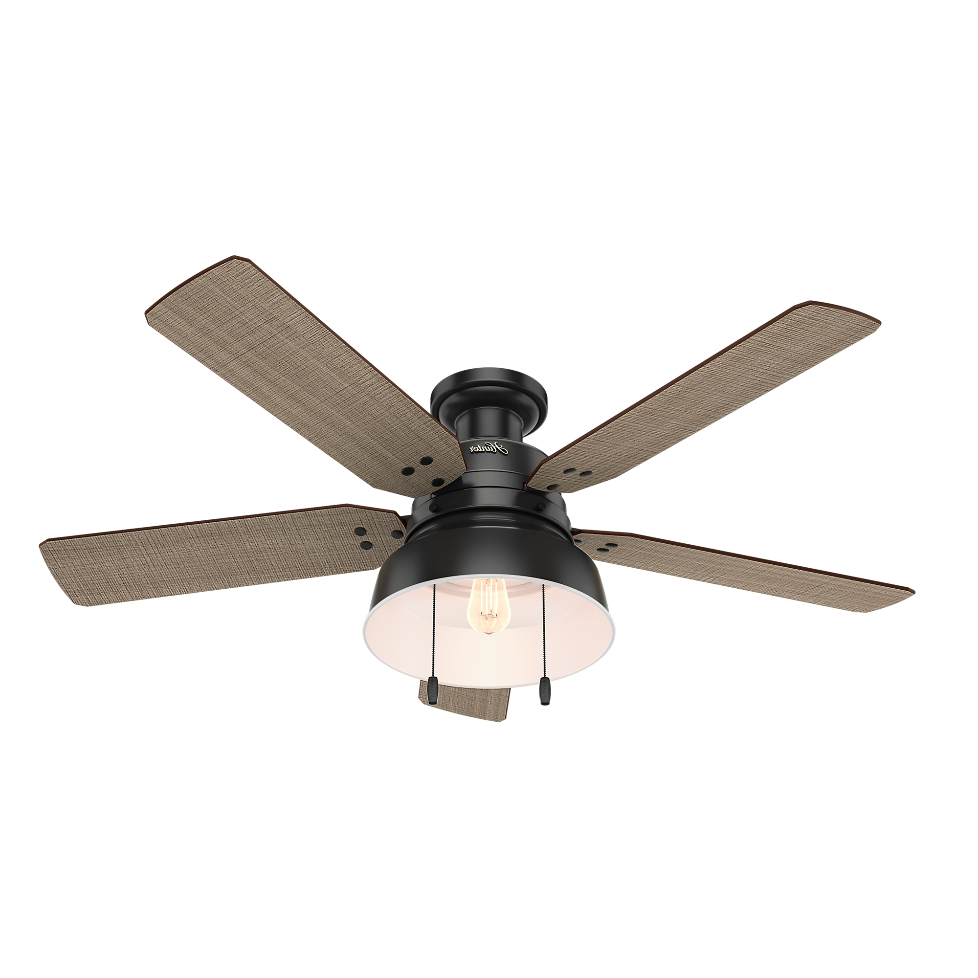 Favorite Low Profile Outdoor Ceiling Fans With Lights In Mill Valley Low Profile Outdoor Ceiling Fan With Lighthunter Fan (View 10 of 20)