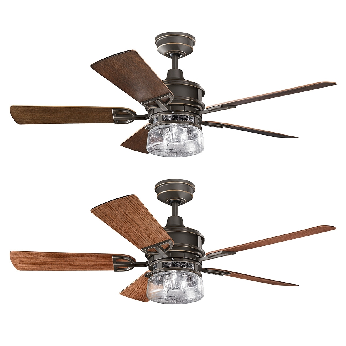 Favorite Lyndon Outdoor Ceiling Fan With Lightkichler (Gallery 1 of 20)