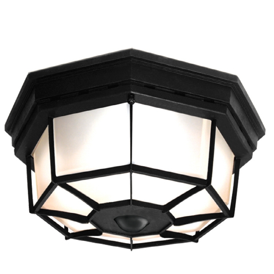 Favorite Outdoor Ceiling Fans With Motion Sensor Light Within Shop Outdoor Flush Mount Lights At Lowes (View 18 of 20)