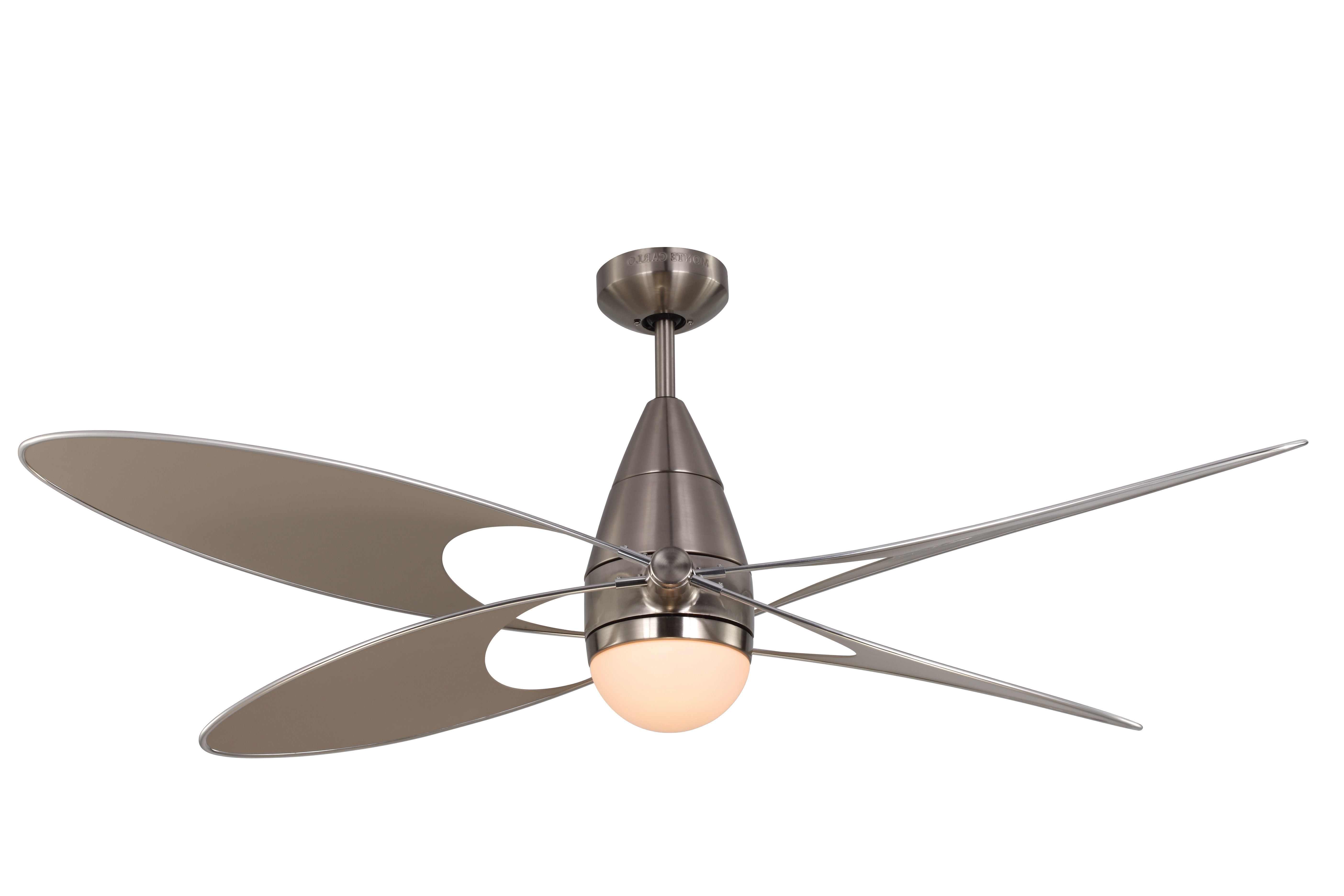 "Favorite Outdoor Ceiling Fans With Remote And Light Regarding Monte Carlo 4Bfr54Bkd Matte Black 4 Bladed 54"" Indoor/outdoor (View 7 of 20)"