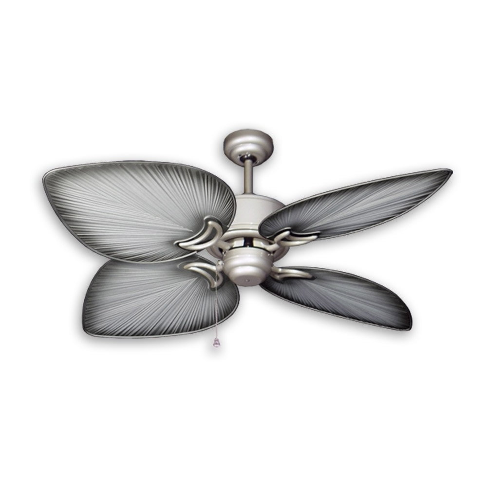 Favorite Tropical Ceiling Fans With Palm Leaf Blades, Bamboo, Rattan And More With Regard To Tropical Outdoor Ceiling Fans (Gallery 8 of 20)