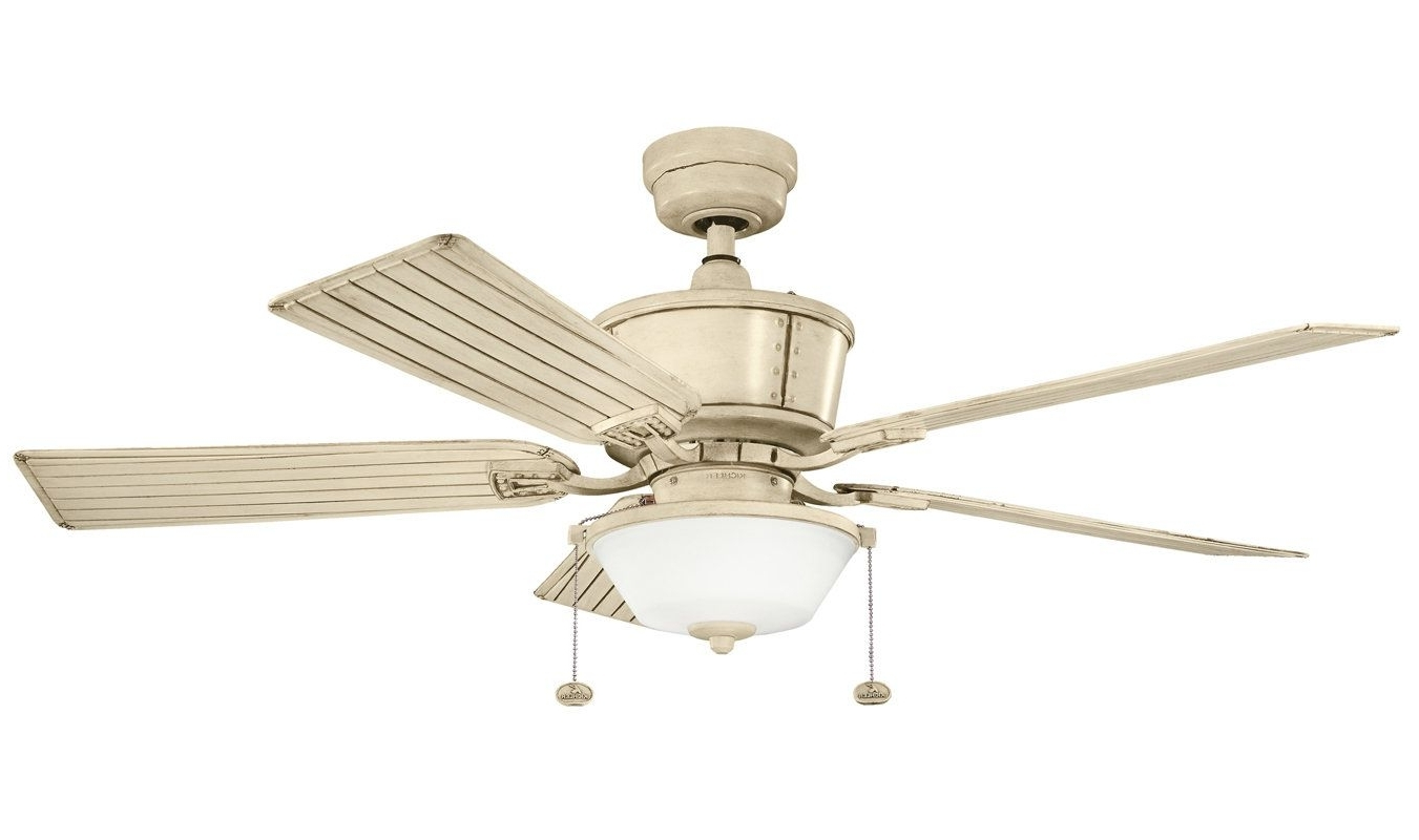 "Favorite View The Kichler 300162 Cates 52"" Outdoor Ceiling Fan With 5 Blades In Outdoor Ceiling Fans At Kichler (View 6 of 20)"