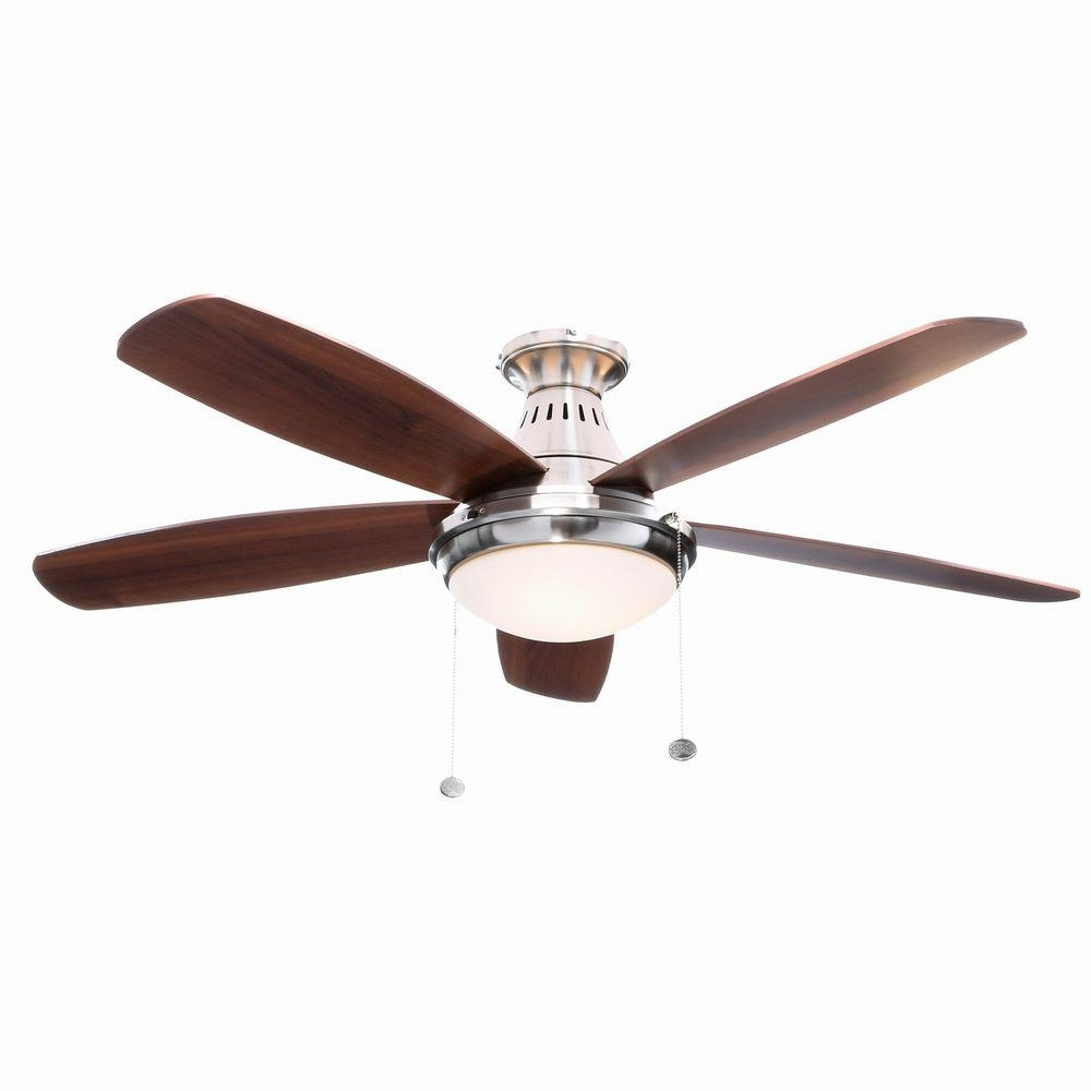 Flush Mount Outdoor Ceiling Fan With Light Flush Mount Outdoor For Famous Flush Mount Outdoor Ceiling Fans (Gallery 8 of 20)
