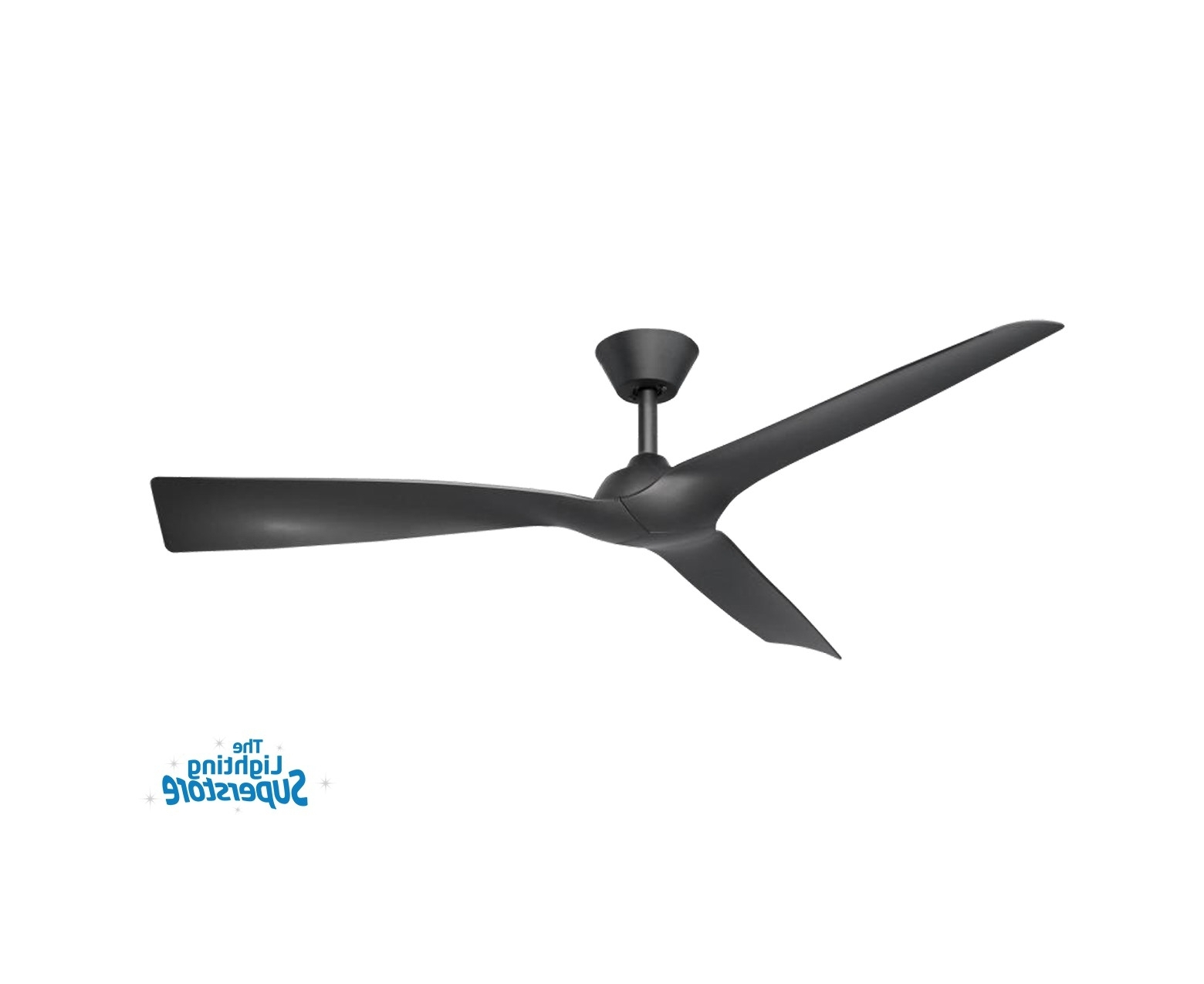 "Gold Coast Outdoor Ceiling Fans Throughout Best And Newest 52"" Trinidad Ii Black Ceiling Fan – Plastic Moulded Blade Ceiling Fan (View 18 of 20)"