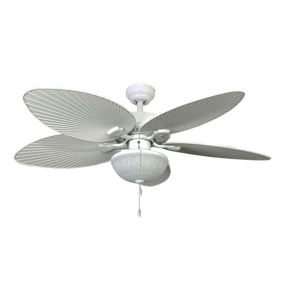 Grey Outdoor Ceiling Fans Within Widely Used Shop Palm Coast Playa Mia 52 In White Indoor/outdoor Ceiling Fan (View 13 of 20)
