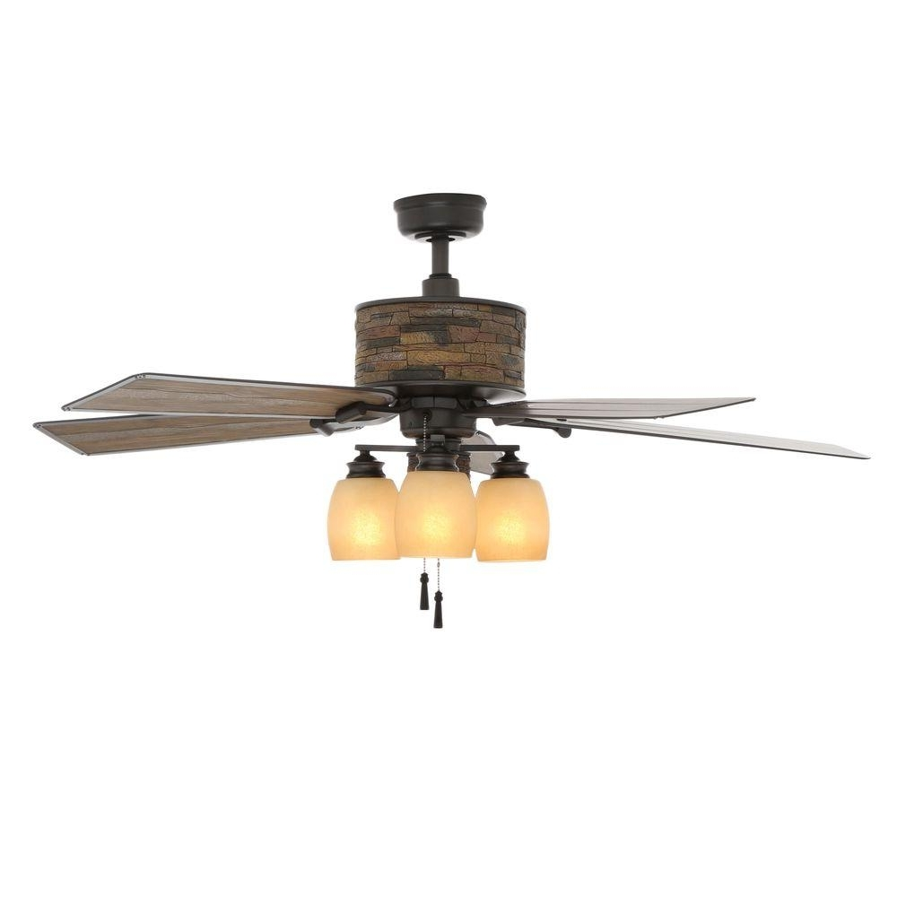 Hampton Bay Ellijay 52 In. Indoor/outdoor Natural Iron Ceiling Fan For Well Known Ellington Outdoor Ceiling Fans (Gallery 16 of 20)