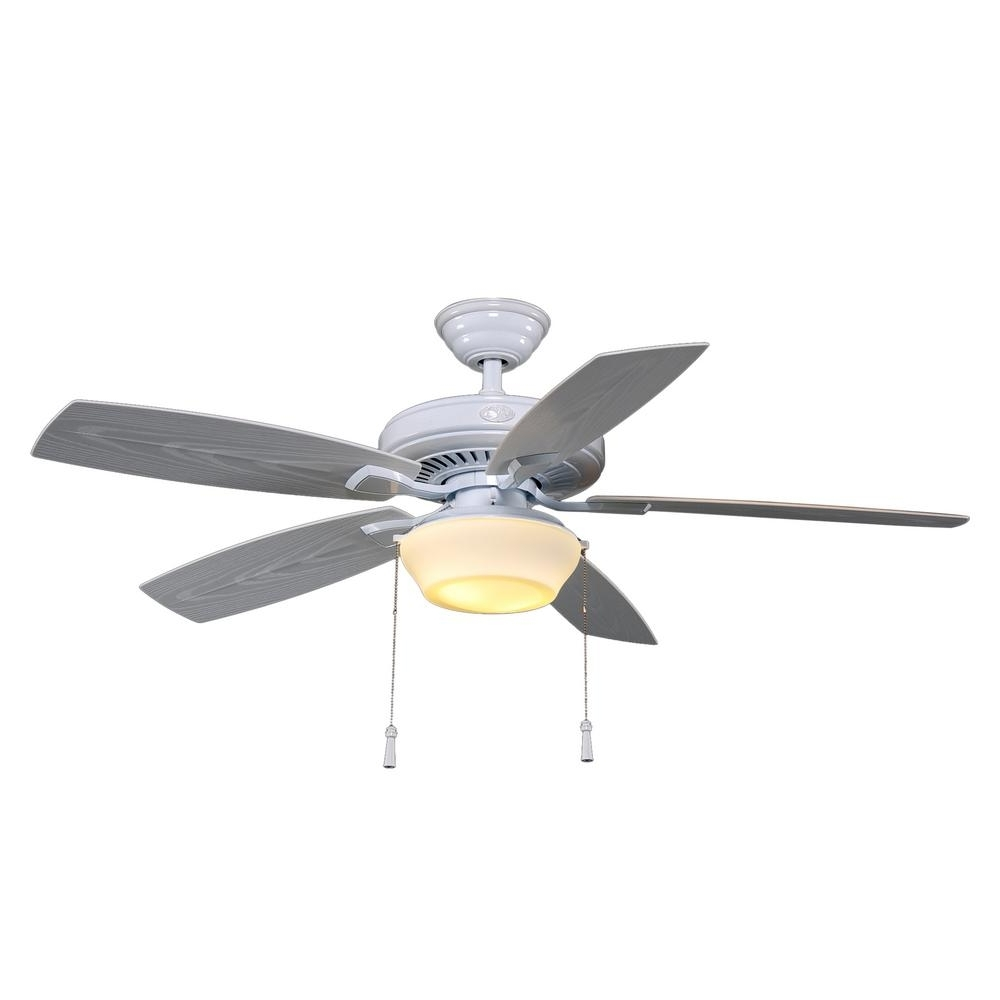 Hampton Bay Gazebo 52 In. Led Indoor/outdoor White Ceiling Fan With With Favorite Outdoor Ceiling Fans For Gazebo (Gallery 11 of 20)