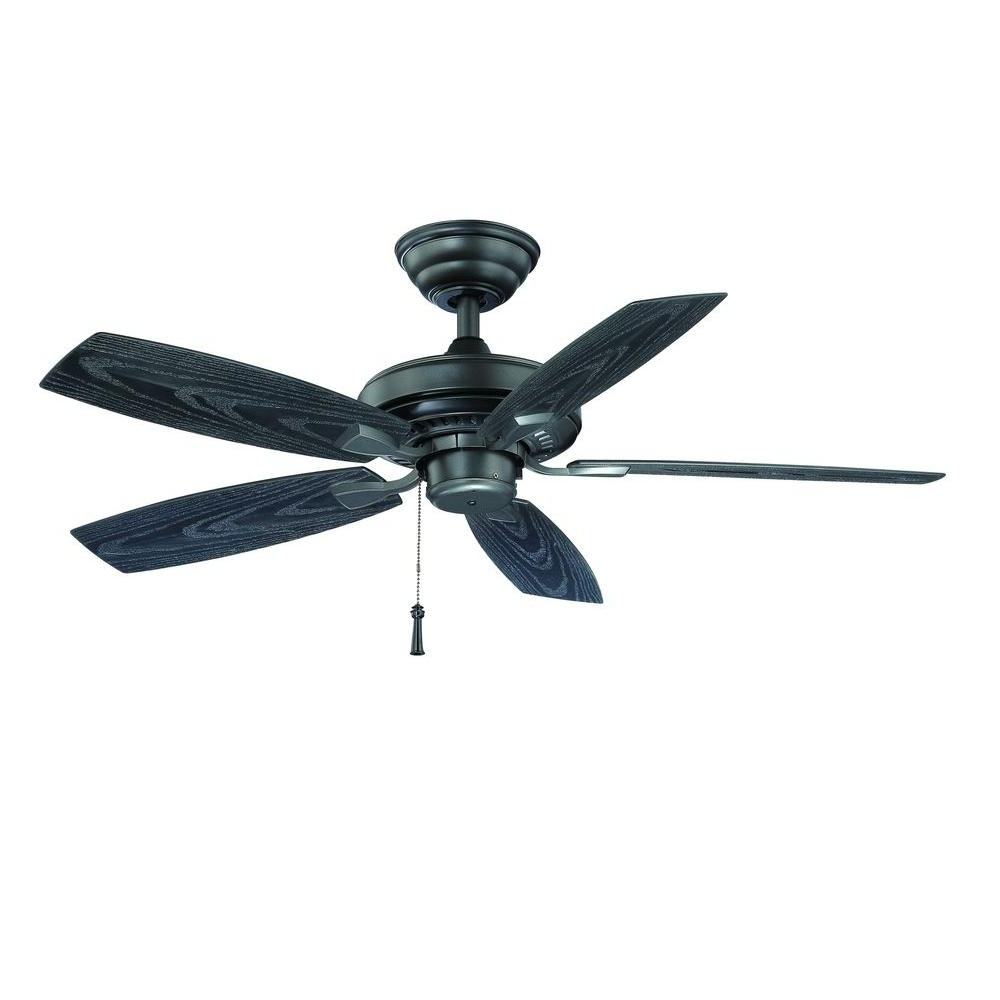 Hampton Bay Gazebo Ii 42 In. Indoor/outdoor Natural Iron Ceiling Fan Pertaining To Latest Outdoor Ceiling Fans For Gazebo (Gallery 5 of 20)