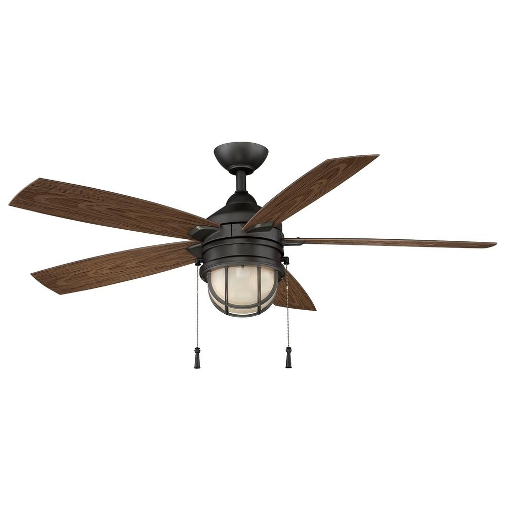 Hampton Bay Outdoor Ceiling Fans With Lights With Preferred Hampton Bay Seaport 52 In (View 16 of 20)