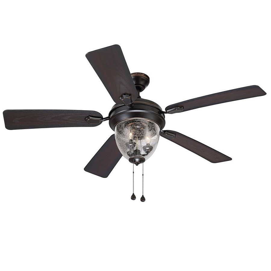 Harbor Breeze Ellesmere 52 In Oil Rubbed Bronze Downrod Or Close Regarding Best And Newest Outdoor Ceiling Fans For Windy Areas (View 9 of 20)