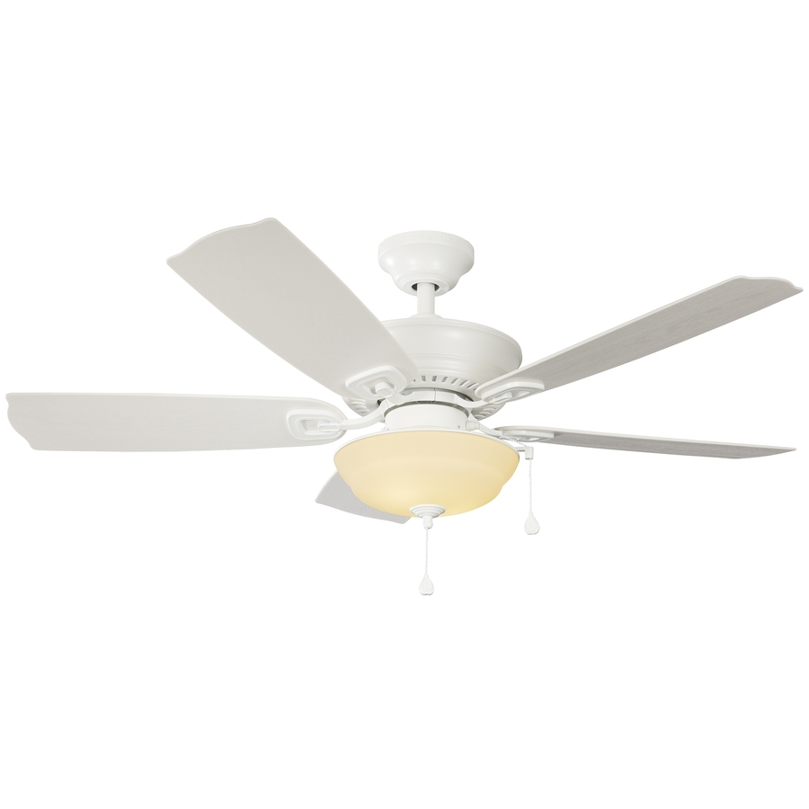 Harbor Breeze Outdoor Ceiling Fans In Widely Used Shop Harbor Breeze Echolake 52 In White Indoor/outdoor Ceiling Fan (View 20 of 20)