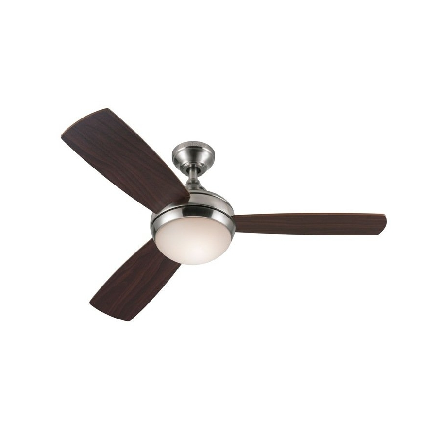 Harbor Breeze Outdoor Ceiling Fans With Lights For Most Popular Harbor Breeze 44 In Harbor Breeze Sauble Beach Brushed Nickel (View 6 of 20)