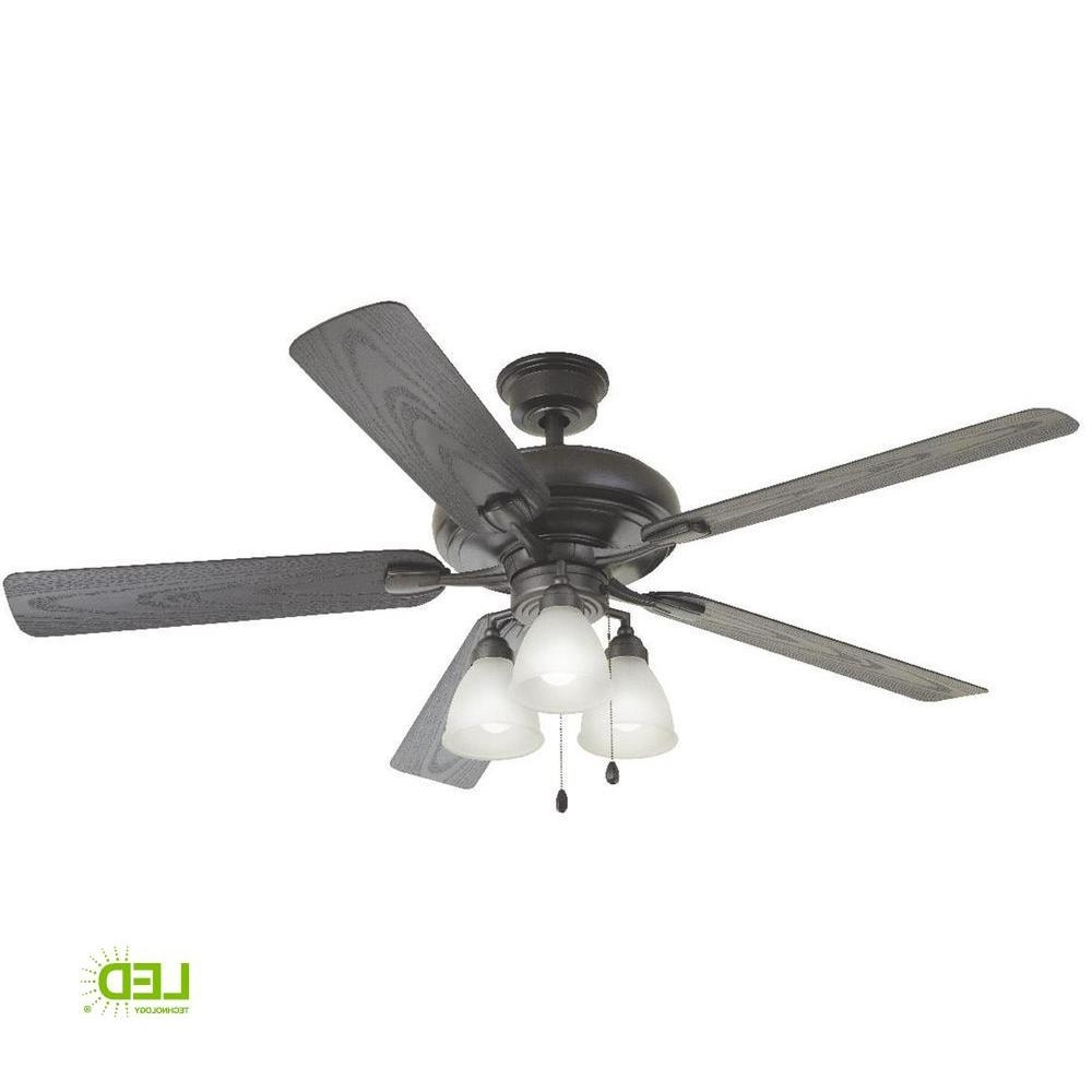 Heavy Duty Outdoor Ceiling Fans In Preferred Home Decorators Collection Trentino Ii 60 In. Led Indoor/outdoor (Gallery 7 of 20)