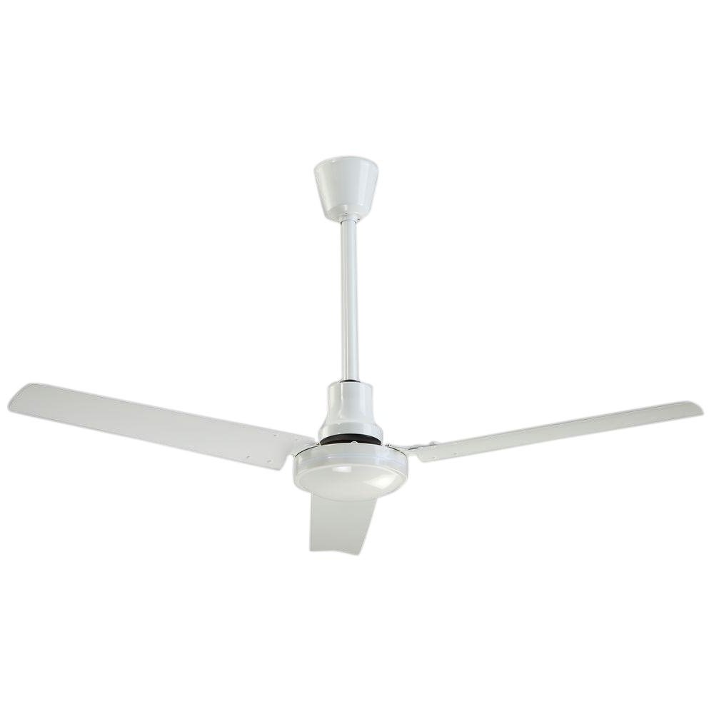 High Output Outdoor Ceiling Fans Pertaining To Fashionable Industrial 48 In. Indoor/outdoor White High Performance Ceiling Fan (Gallery 2 of 20)