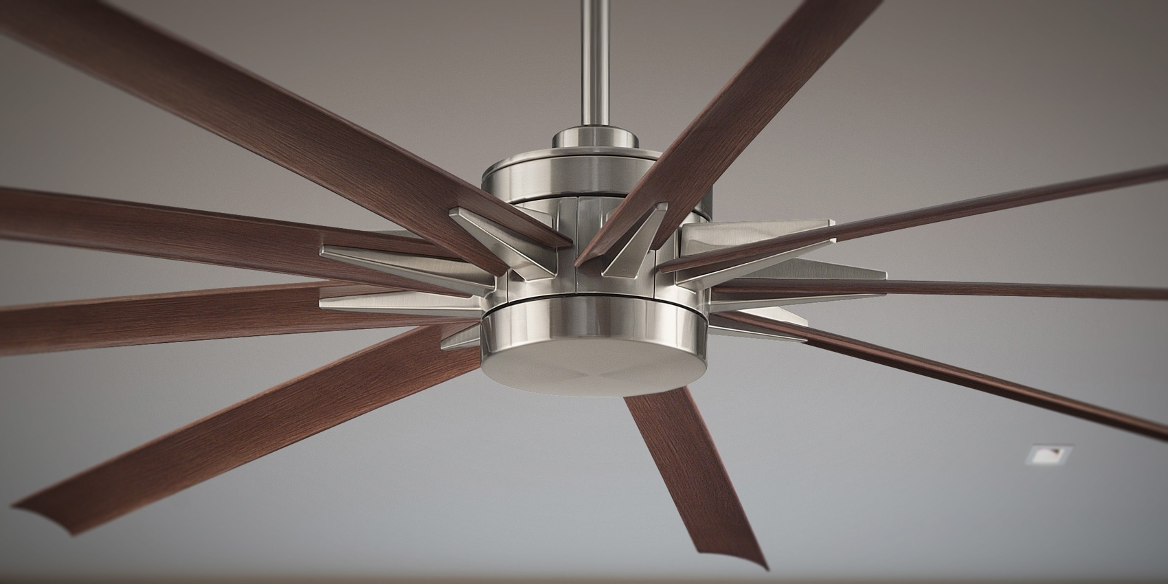 "High Volume Outdoor Ceiling Fans Intended For Most Recently Released Odyn 84"" Large Ceiling Fanfanimation (View 7 of 20)"