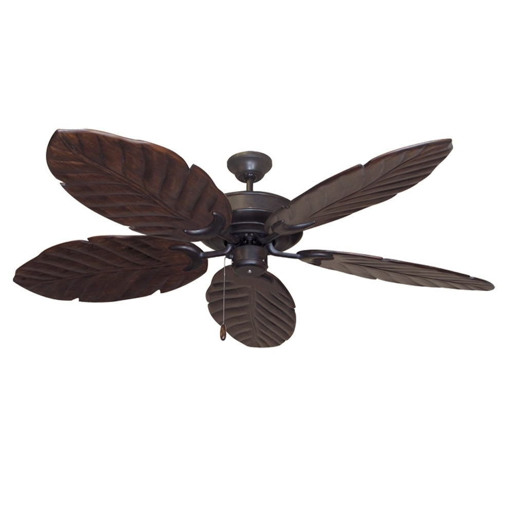 High Volume Outdoor Ceiling Fans Intended For Widely Used Oil Rubbed Bronze Raindance 100 Series Ceiling Fan – Real Wood (View 8 of 20)