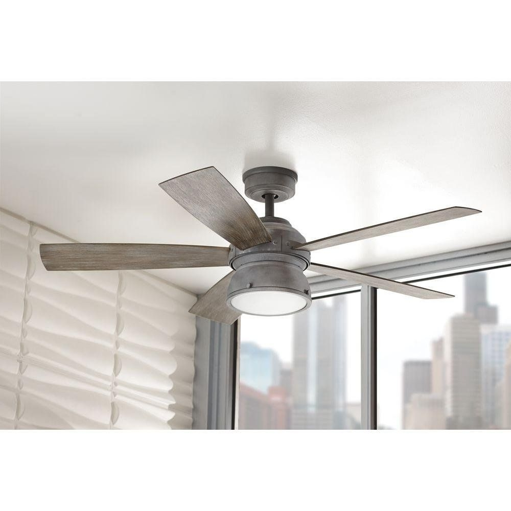 Home Decorators Collection 52 In. Indoor/outdoor Weathered Gray Within 2018 Outdoor Ceiling Fans At Amazon (Gallery 14 of 20)