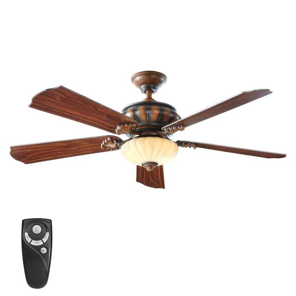 Home Decorators Collection Grayton 54 In. Led Indoor/outdoor For Preferred Galvanized Outdoor Ceiling Fans With Light (Gallery 20 of 20)