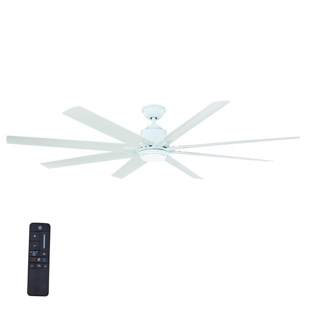 Home Decorators Collection Kensgrove 72 In. Led Indoor/outdoor White For Most Recent 72 Inch Outdoor Ceiling Fans With Light (Gallery 15 of 20)