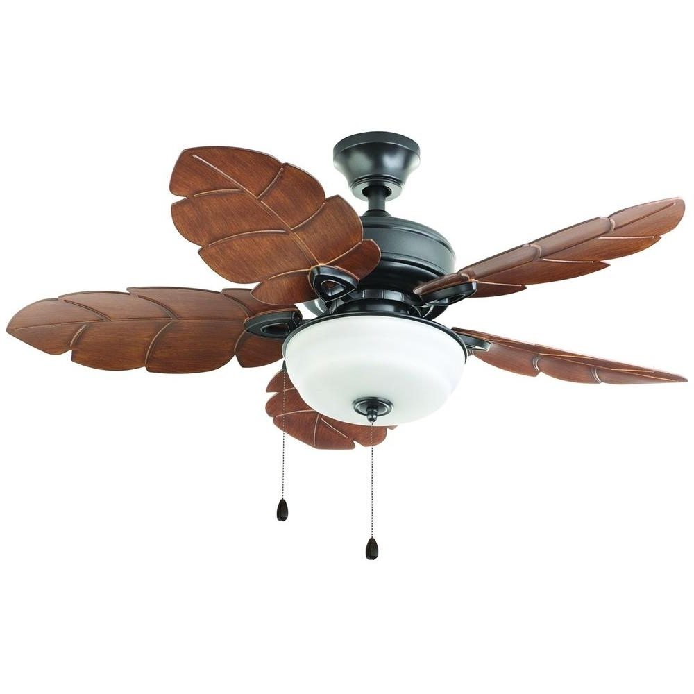 Home Decorators Collection Palm Cove 52 In. Led Indoor/outdoor For Trendy Outdoor Ceiling Fans With Light Kit (Gallery 13 of 20)