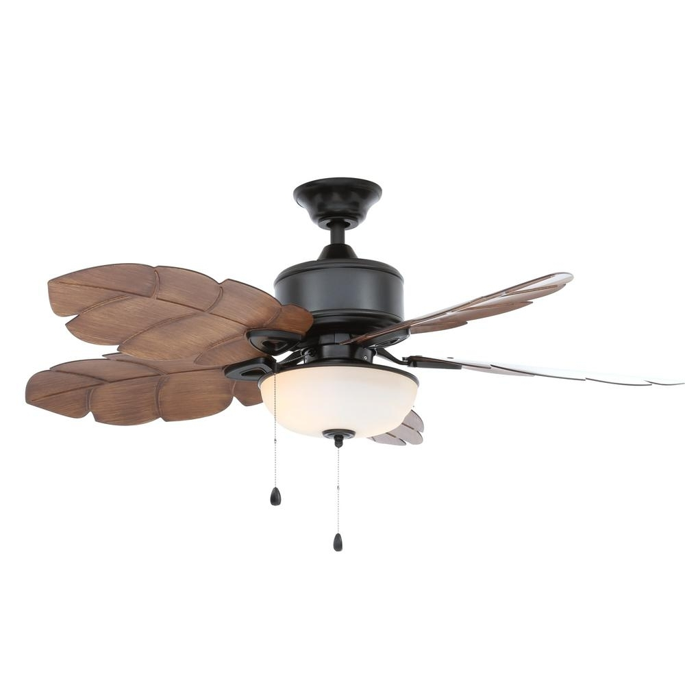 Home Decorators Collection Palm Cove 52 In. Led Indoor/outdoor Inside Famous Outdoor Ceiling Fan Light Fixtures (Gallery 7 of 20)
